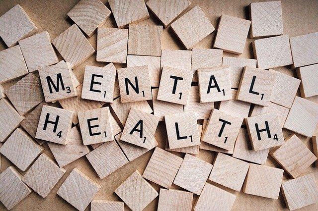 Mental Health written on wooden pieces
