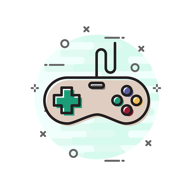 Vector graphic of a joystick