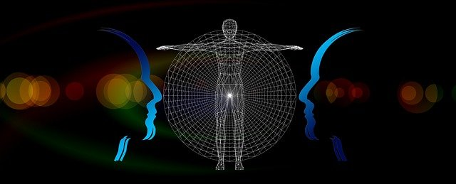 vector graphic of human body in thinking perspective