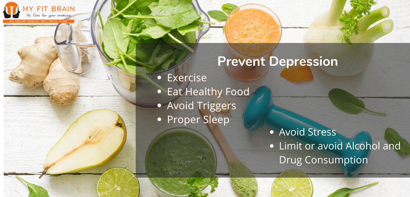 prevent depression - infographic